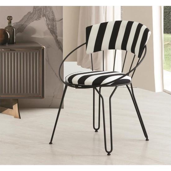 Dekorbi̇zden İstanbul Sandalye Metal Si̇yah
