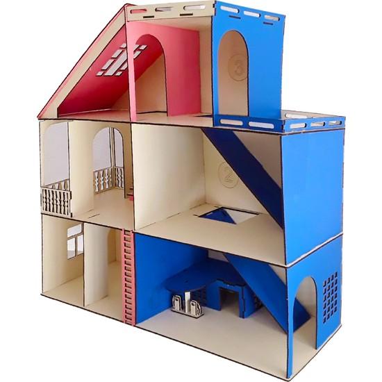 Ahşap Toys Renkli Bebek Evi
