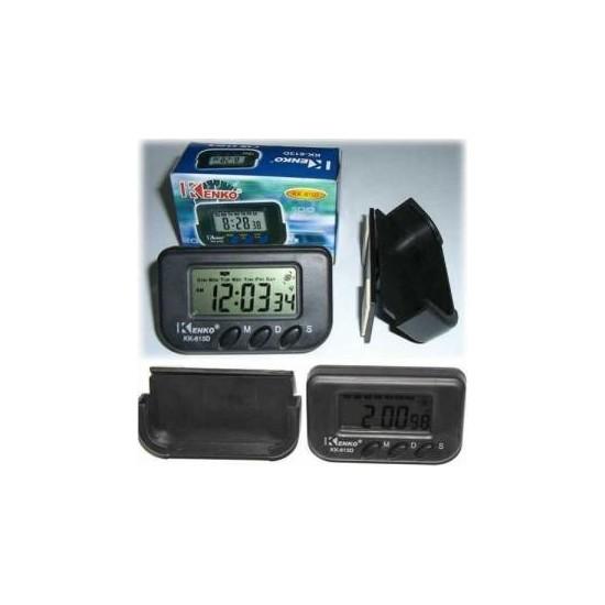 Kenko Dijital Küçük Masa-Araba Saati-Alarm-Kronometre -Garantili