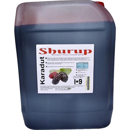 Shurup Konsantre Meyve Aromalı İçecek 6 kg Karadut
