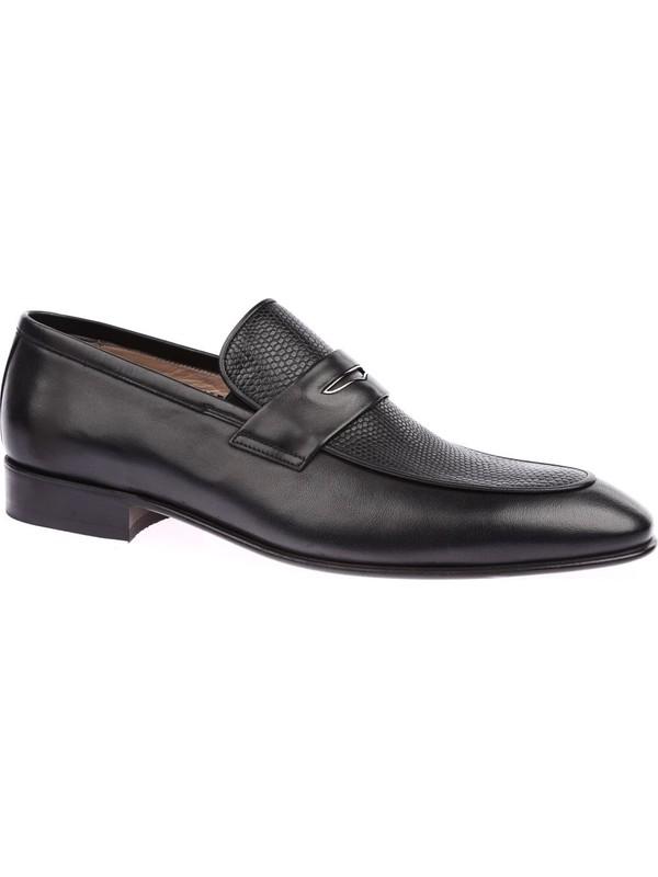 Nevzat Onay 2157-702 Erkek Kösele Taban Klasik Ayakkabı Siyah Antik