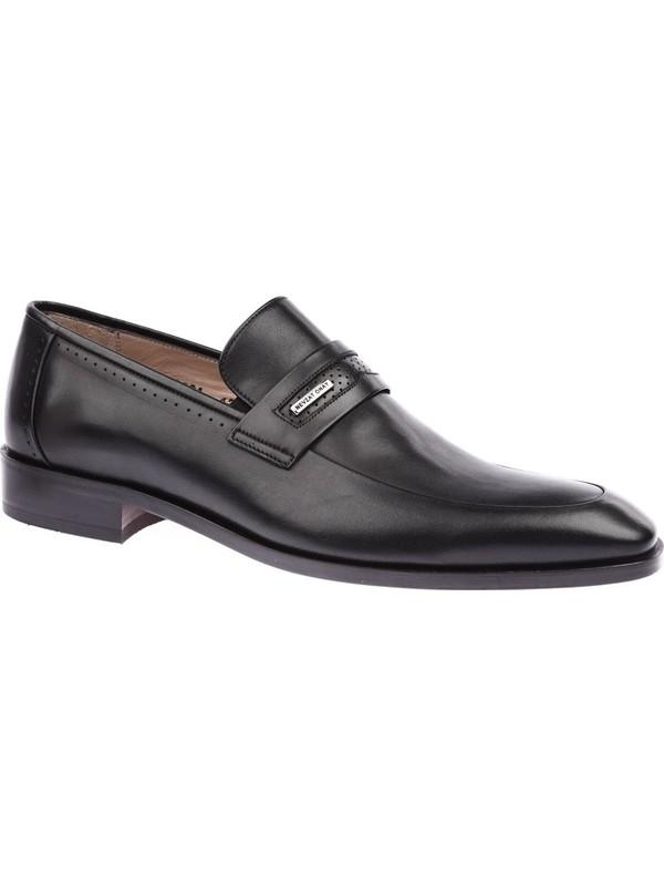 Nevzat Onay 422-223 Erkek Kösele Taban Klasik Ayakkabı Siyah Antik