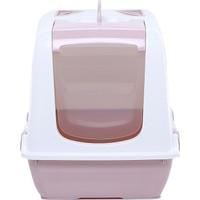 Milo Kapalı Kedi Tuvaleti Pudra Pembe 37 x 50 x 39,5 cm