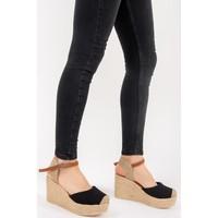 Fox Shoes Siyah Kadın Dolgu Topuklu Ayakkabı F432899905
