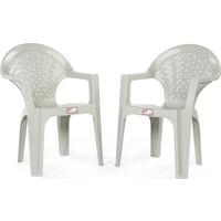 Mevsim Garden Palmiye 2'Li Plastik Sandalye Plastik Bahçe Koltuğu