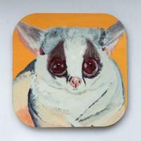 Artmuguet Demure Mouse Lemur Metal Yüzeyli Bardak Altlığı