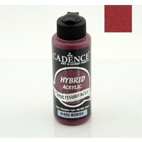 Cadence Hybrid Akrilik Multisurface Boya 120 Ml Bordo