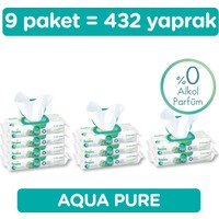 Prima Islak Havlu Aqua Pure 9'lu Fırsat Paketi 432 Yaprak