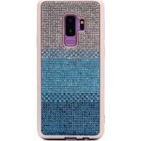 Tbkcase Samsung Galaxy S9 Plus Taşlı Lüks Silikon Kılıf Mavi