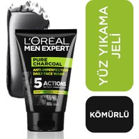 L'Oréal Paris Men Expert Pure Charcoal Cilt Problemlerine Karşı Savaşan Yüz Yıkama Jeli 100 Ml