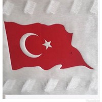 Siirt Ürünleri Türkiye ve Türk bayraklı el işlemeli kilim