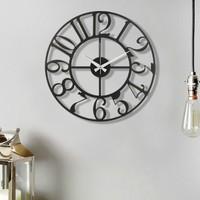 Muyi̇ka Bonni Metal Siyah Duvar Saati 50 x 50 cm