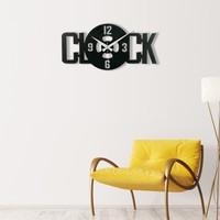 Muyi̇ka Ora Metal Siyah Duvar Saati 50 x 50 cm