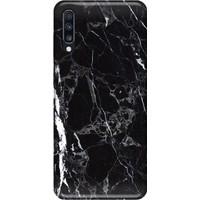 Svart Case Samsung A70 Siyah Mermer Silikon Telefon Kılıfı