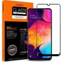 Spigen Samsung Galaxy A50 / Galaxy A30 Cam Ekran Koruyucu Tam Kaplayan Full Cover Black - 611GL26283