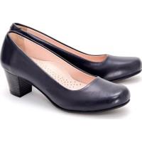 Girl Boss New York Luna Lacivert Comfort Deri Hostes Ayakkabısı C4016-P-3