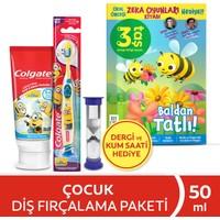 Colgate Minions Çocuk Diş Macunu 75 ml + Diş Fırçası 6+ Yaş Dergi ve Kum Saati