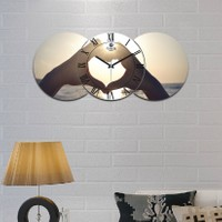 Artolex By Foresta Concept 3'lü Dekoratif Mdf Tablo Duvar Saati FRC101
