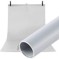 Hdg Ürün Fotoğraf Çekim Stüdyo Plastik Fotoğraf Fonu 70X100CM Beyaz + Siyah Fon