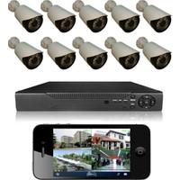 Primuscam 10 Kameralı Set Gece Görüşlü Güvenlik Kamerası 2mp Ahd Dvr Plastik Kasa