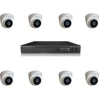 Primuscam Dome Güvenlik Kamera Seti İç Ortam 8 Kameralı Set Gece Görüşlü 2mp Ahd