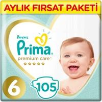 Prima Bebek Bezi Premium Care 6 Beden Junior Aylık Fırsat Paketi 105 Adet