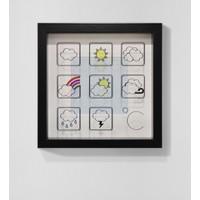 Saydam İkonik Hava Durumu Derinlikli Özel Çerçeve Minimal Modern Tablo