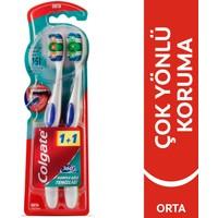 Colgate 360 Komple Ağız Temizliği Diş Fırçası Orta 1+1