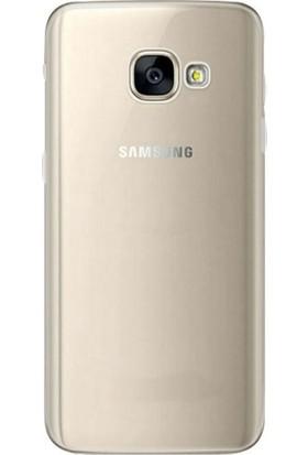 Kılıfist Samsung Galaxy A3 2017 Kılıf A320 İnce Şeffaf Silikon Kılıf Şeffaf + Nano Cam