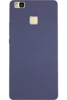 Kılıfist Huawei P9 Lite 2016 Mat Silikon Kılıf Slim Fit Simple Case Lacivert + Ekran Koruyucu Cam