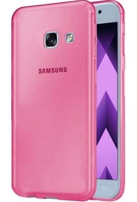 Kılıfist Samsung Galaxy A5 2017 Kılıf A520 İnce Şeffaf Silikon Kılıf Pembe + Ekran Koruyucu Cam