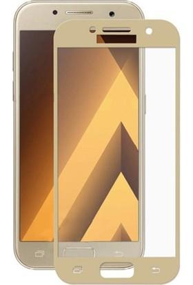 Kılıfist Samsung Galaxy A5 2017 Ekranı Tam Kapatan Ekran Koruyucu Cam Altın
