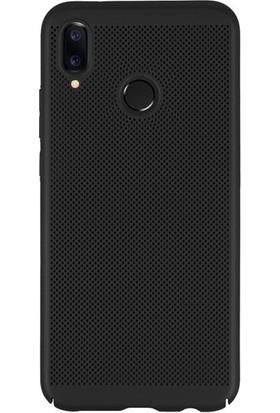 Kılıfist Samsung Galaxy M20 Isı Dağılımlı Delikli Rubber İnce Kılıf Siyah + Temperli Cam