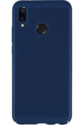 Kılıfist Samsung Galaxy M20 Isı Dağılımlı Delikli Rubber İnce Kılıf Lacivert + Temperli Cam