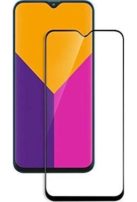 Dafoni Samsung Galaxy M10 Curve Tempered Glass Premium Full Siyah Cam Ekran Koruyucu