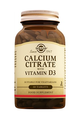 Solgar Calcium Citrate With Vitamin D3 60 Tablet