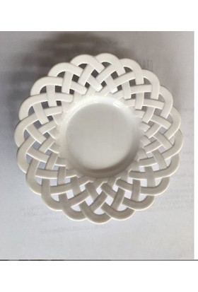 Crystalware Çay Tabağı 6 lı Plasti̇k Beyaz Hasir Desenlı̇