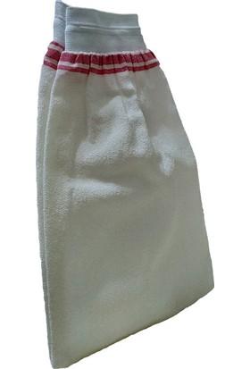 Micro Peel İpek Sırt ve Vücut Kesesi Lastikli Beyaz 15X25