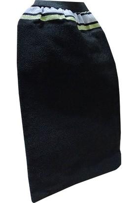 Micro Peel İpek Sırt ve Vücut Kesesi Lastikli Siyah 15X27