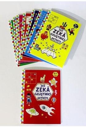 365 Zeka Geliştirici Aktivite Seti 8 Kitap 4 Yaş ve Üzeri Çocuklar İçin