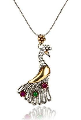 Söğütlü Silver ENT-SGTL3980 Tavus Kuşu Kolye