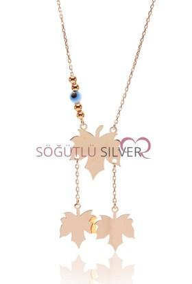 Söğütlü Silver ENT-SGTL7554 Yapraklar Kolyesi
