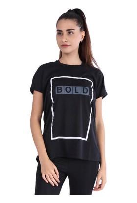 Sportive Kadın Siyah T-Shirt 710454-00B