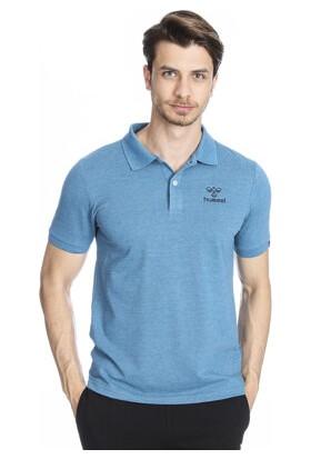 Hummel Fanen Polo Erkek Mavi Günlük Polo T-Shirt 910554-7785