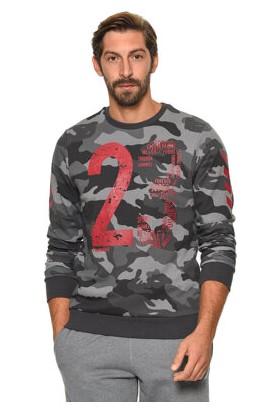Hummel Camouflage Erkek Siyah Sweatshirt 920229-2001