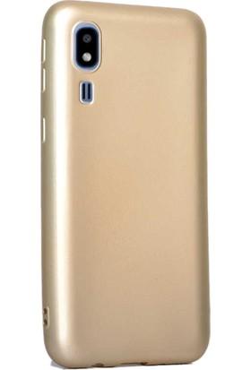 Case Street Samsung Galaxy A2 Core Kılıf Premier Silikon Esnek Arka Koruma Gold