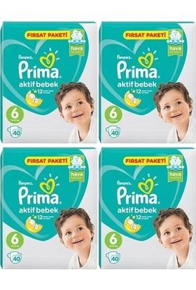 Prima Aktif Bebek 6 Numara Fırsat Paketi 40 x 4=160 Adet