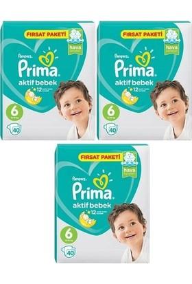 Prima Aktif Bebek 6 Numara Fırsat Paketi 40 x 3=120 Adet