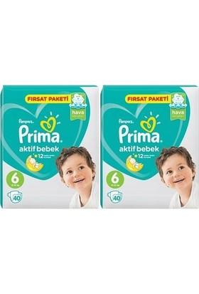 Prima Aktif Bebek 6 Numara Fırsat Paketi 40 x 2=80 Adet
