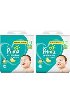Prima Aktif Bebek 4+ Numara Fırsat Paketi 54 x 2=108 Adet
